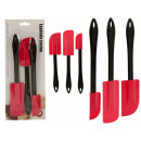 wholesale Kitchen Utensils: set of 3 red black silicone spatulas