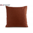 cushion canvas 60x60 dark brown