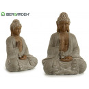 Buddha Polyresin Meditation Silber 36x47cm