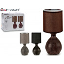 set of 2 lamps table 3 colors pear