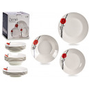 porcelain tableware 18 pieces zen