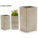 Großhandel Garten & Baumarkt: quadratische Zementvasenformen dreimal gebleicht