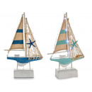 wooden boat small sailboat 15 leds