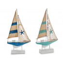 wooden boat sailboat medium 22 leds