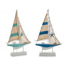 wooden boat large sailboat 29 leds