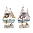 small wooden fishing boat 18 leds