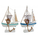 Large fishing wooden boat 24 leds