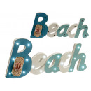sign beach wood rope 19 leds