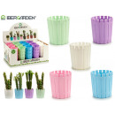 5 assorted mini plastic flowerpot
