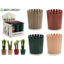 wholesale Garden & DIY store: medium plastic flower pot 4 times assorted