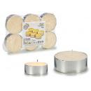 set of 6 candles light cream maxi cream 6cm