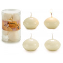 set of 8 cream floating candles