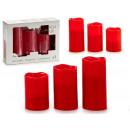 Set mit 3 roten LED-Kerzen