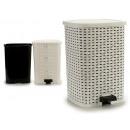 wholesale Garden & DIY store: plastic trash pedal rattan white 26l