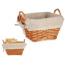 wholesale Lunchboxes & Water Bottles: wicker basket sprig rectangular small natur