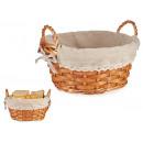 wholesale Lunchboxes & Water Bottles: wicker basket round sprig natur medium