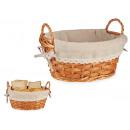 wholesale Lunchboxes & Water Bottles: bread basket wicker oval sprig natur medium
