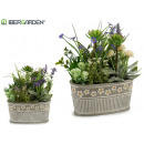 wholesale Artificial Flowers: flower pot oval lavender assorted 2