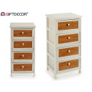 wholesale Home & Living: wide wooden chest of drawers 4 drawers cork