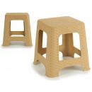 stołek z rattanu z tworzywa sztucznego beig medium