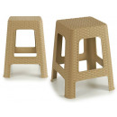 wholesale Small Furniture: rattan plastic stool big beig 1kg
