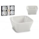 set di 6 vaschette quadrate in porcellana multiuso