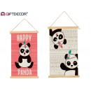 canvas panda parchment sur2 33x54cm