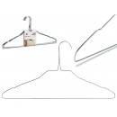 wholesale Small Furniture: set of 10 steel hangers large silver colors