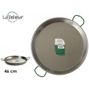 polished paella pan 46 cm 12 portions