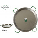 Polished paella pan 80 cm 40 portions