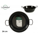 Enameled deep frying pan with handles 24 cm