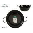 Enameled deep frying pan with handles 32 cm