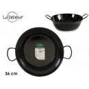Enameled deep frying pan with handles 36 cm