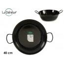 Enameled deep frying pan with handles 40 cm