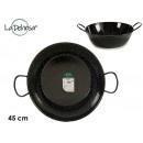 Enameled deep frying pan with handles 45 cm