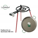 wholesale Pots & Pans: polished paella pan set 46cm burner 400mm