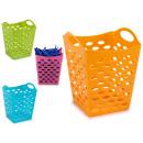 panier en plastique polyvalent carré 4 fois assort