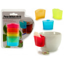 set of 4 poses plastic tea bags