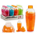 plastic shaker with 16 cubes 4 times assorted