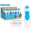 bottiglia di plastica con coperchio, colori 3 volt