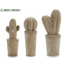 wholesale Decoration: medium bleached stone cactus 3 times assorted