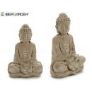 buddha meditating bleached stone