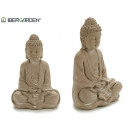 Buddha meditating medium bleached stone