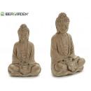 buddha meditating large bleached stone
