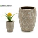 bleached stone cactus flowerpot
