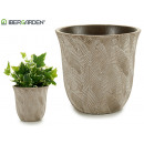 flowerpot leaves bleached large stone