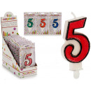 birthday candle 5 colors 4 times assorted