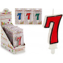 Großhandel Geschenkartikel & Papeterie: Geburtstagskerze 7 Farben 4 fach sortiert