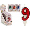 Großhandel Geschenkartikel & Papeterie: Geburtstagskerze 9 Farben 4 fach sortiert