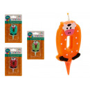 candle birthday animals 0 colors 4 times assorted